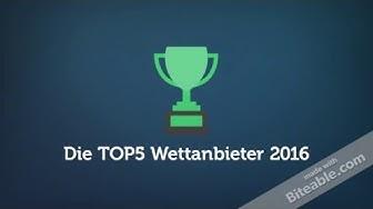TOP WETTANBIETER 2016 - gratis Sportwetten Gutschein