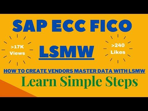 LSMW For Vendor Master Data Creation