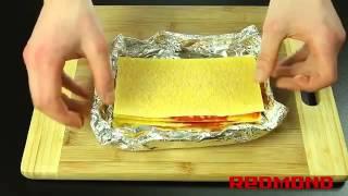 Лазанья с фаршем в мультиварке видео рецепт для Redmond RMC M4504