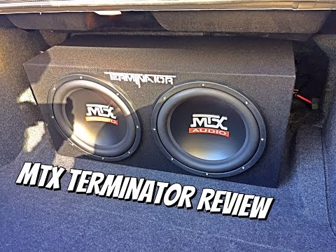 "MTX Terminator 2 12"" 1200 Watt  Subwoofer with Kicker 1200watt amp Review (Dodge Challenger)"