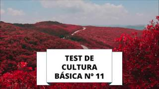 TEST DE CULTURA GENERAL 11 (NIVEL BÁSICO)