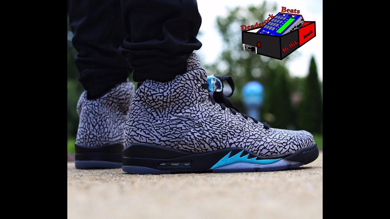"""more photos a1ba1 05b0e Air Jordan 5 """"3LAB5"""" On feet (eXimus Beat)"""