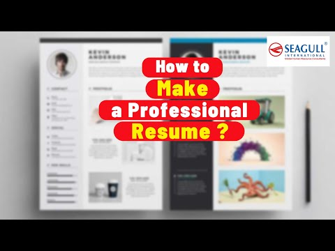 How To Make A Professional Resume? How To Impress Employers?  Watch It !!