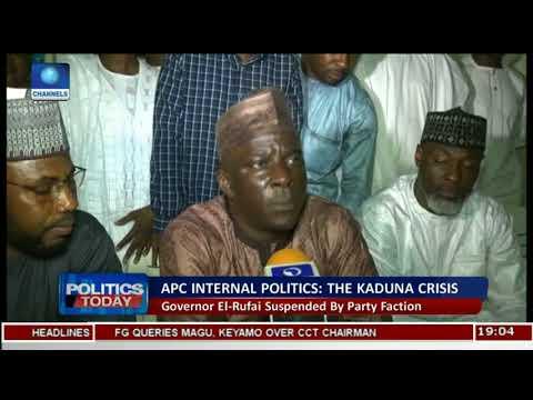 Kaduna APC Crisis: Gov. El-Rufai Suspended By Party Faction  Politics Today 