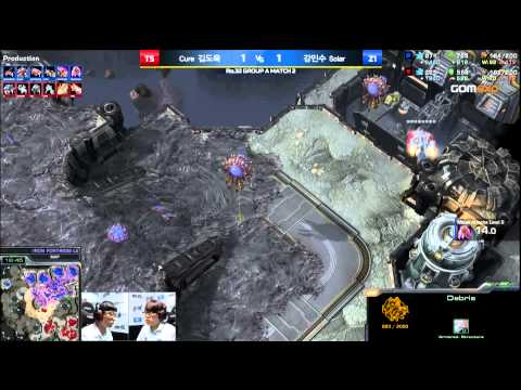 Cure vs Solar TvZ Code S Group A Match 2 Part 2, 2015 HOT6 GSL Season 3   StarCraft 2