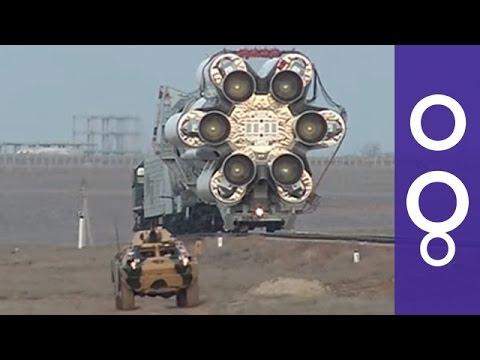 Impressive Video: Giant Proton Rocket On Rails Before ExoMars Launch