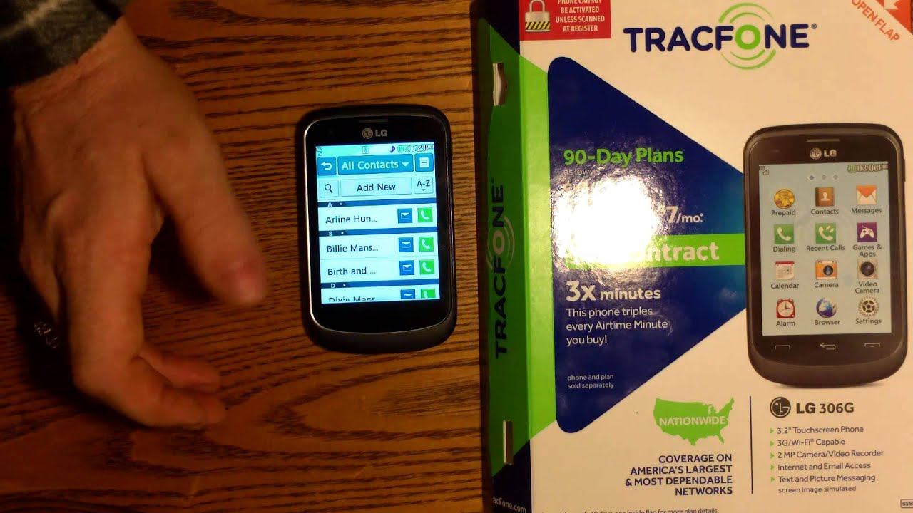 Lg 306g Tracfone Cell Phone Review Youtube