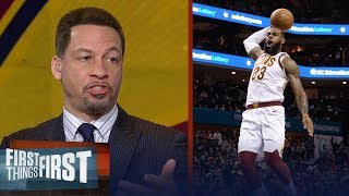 Chris Broussard reacts to LeBron James tying MJ's consecutive game record | FIRST THINGS FIRST
