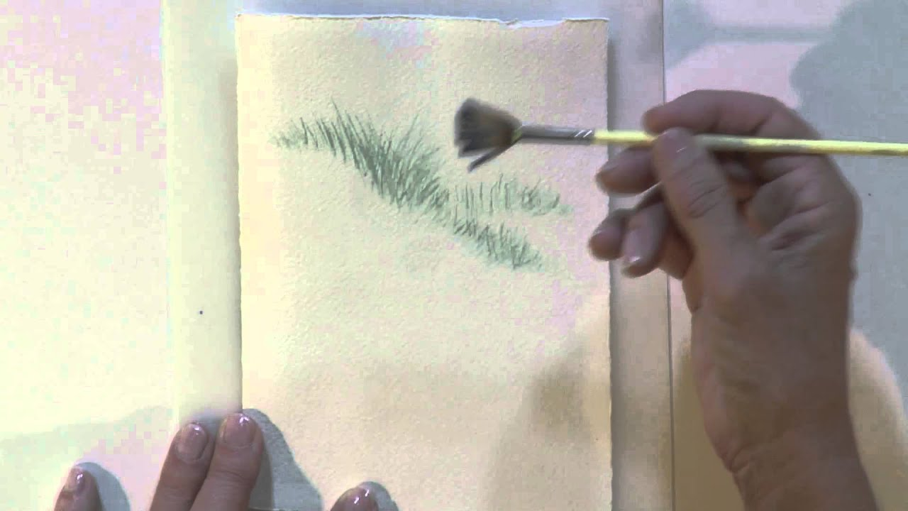 Watercolor for beginners using a fan brush with jan for How to use watercolors for beginners
