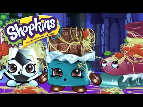 SHOPKINS Cartoon - SPAGHETTI CANNON | Cartoons For Children