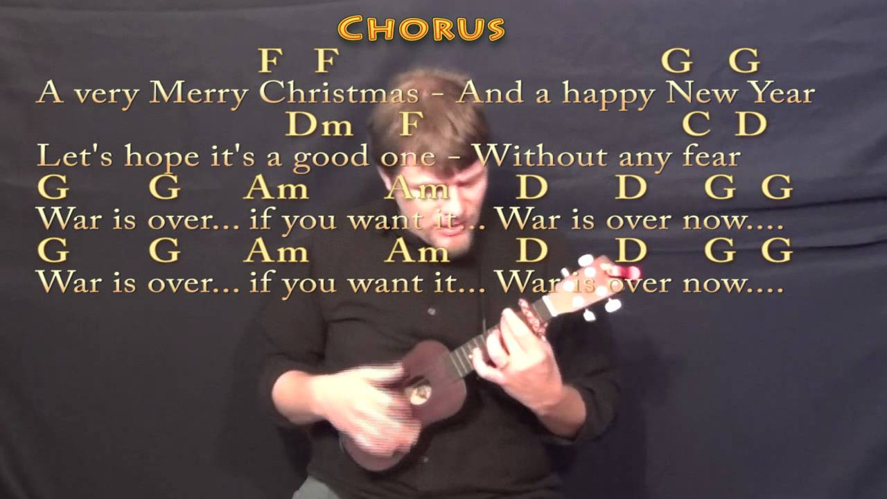 Happy x mas war is over ukulele cover lesson with chords happy x mas war is over ukulele cover lesson with chordslyrics hexwebz Image collections