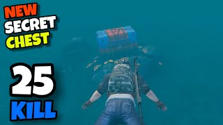 NEW SECRET CHEST IN UNDERWATER!!! | 25 KILLS SOLO VS SQUAD | PUBG MOBILE