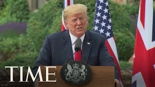 U.S. President Donald Trump And U.K. Prime Minister Theresa May Hold Joint Press Conference | TIME