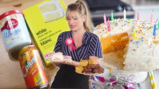 A VEGAN BIRTHDAY CAKE WITH 3 INGREDIENTS?! 3 EASY VEGAN CAKE MIX HACKS | The Edgy Veg