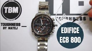 Casio Edifice ECB 800DB 1A opis funkcji i działania zegarka by Matej, recenzja Edifice