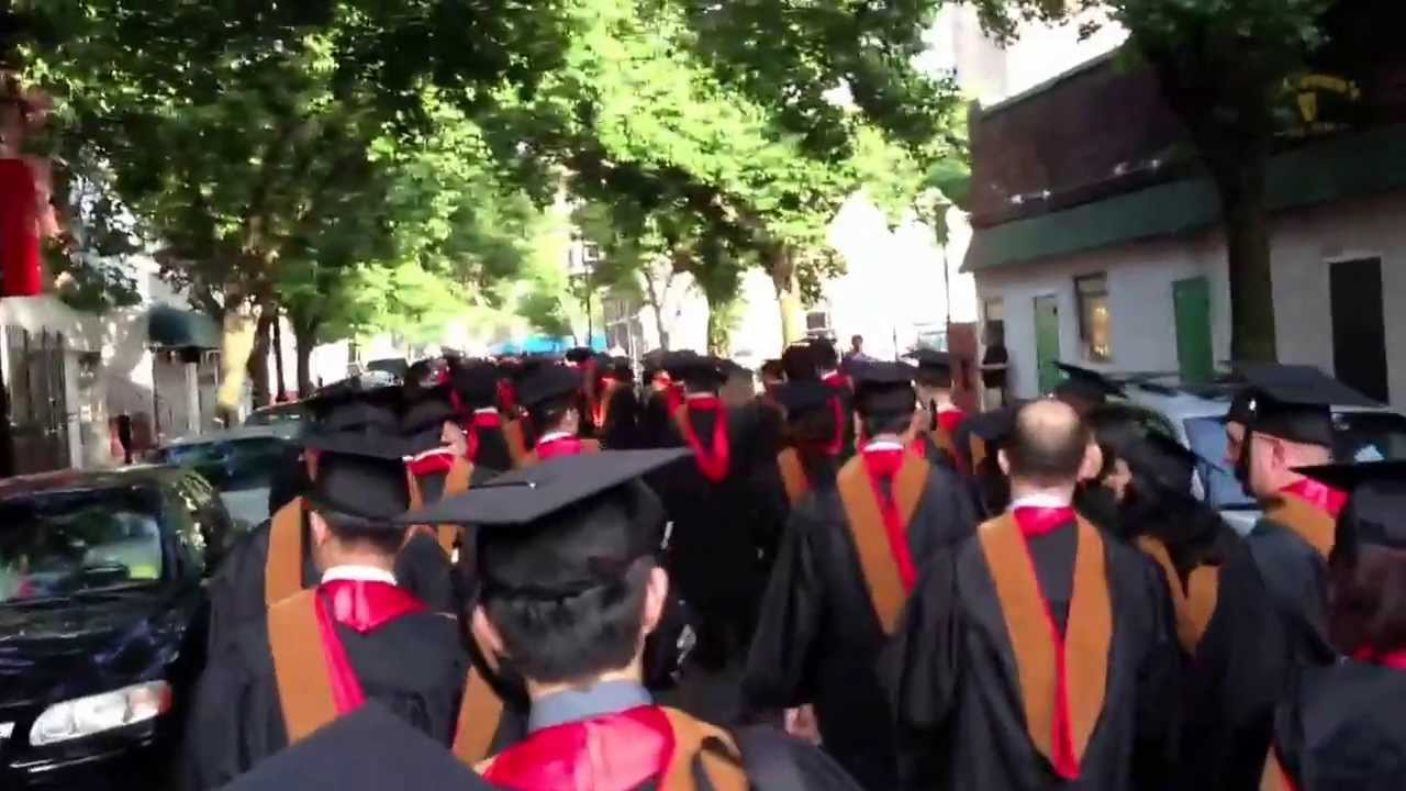 Walking 2 of 4 to Rutgers business school graduation ceremony 2013 ...