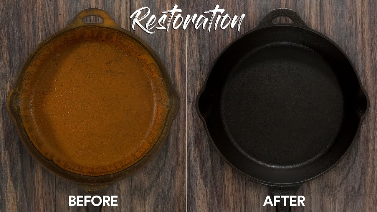 Cast Iron RESTORATION. Why I almost Dry Aged my Nephew!