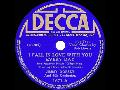 1938 HITS ARCHIVE: I Fall In Love With You Every Day - Jimmy Dorsey (Bob Eberly, vocal) mp3