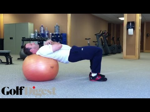 Physio Ball Leg Extensions | Fitness Friday