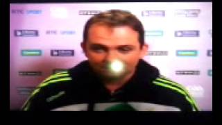 Davy Fitz Interview before All Ireland Final Replay