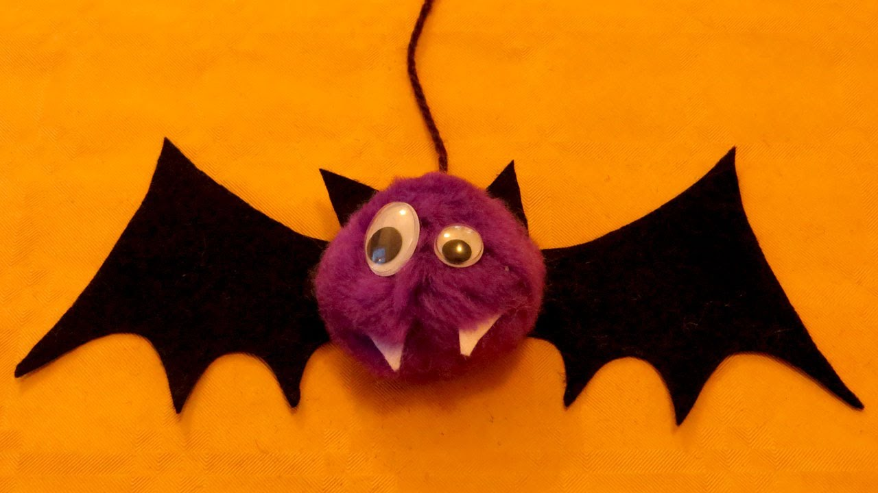chauve souris pompon halloween youtube. Black Bedroom Furniture Sets. Home Design Ideas