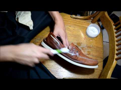 ASMR SHOE CLEANING # 16 SPERRY TOPSIDES