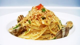 cook s table episode3 clam spaghetti with garlic breadcrumbs in cream sauce