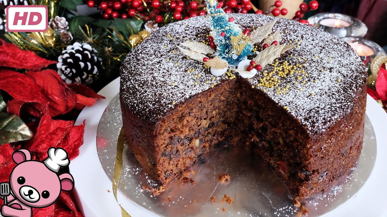 How To Make Quick And Easy Christmas Fruit Cake Video Youtube