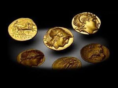Greek coins.