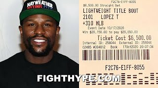 "FLOYD MAYWEATHER REACTS TO TEOFIMO LOPEZ BEATING LOMACHENKO; SHOWS ""LIGHT WIN"" $6500 BET ON LOPEZ"