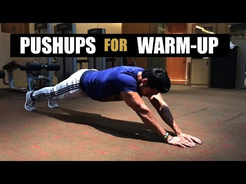 PUSHUPS to Warm-Up Upper Body | Quick Tips by Guru Mann