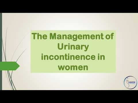 ADVANCED OBSGYNE LECTURE Urinary Incontinence In Women Management Part 1