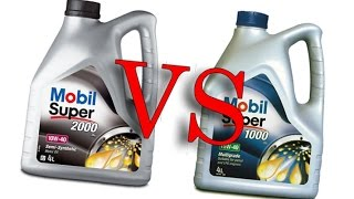 Mobil super 2000 x1 10W40 vs Mobil super 1000 x1 15W40 cold oil test -24°C