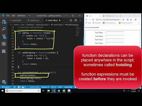 javascript.info The Modern JavaScript Tutorial 2.15 Function expressions and arrows thumbnail