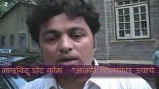 Subodh Bhawe - Sanai choughade, marathi movie promotion.