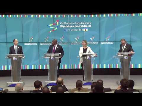Conference de presse du Président Touadera à Bruxelles