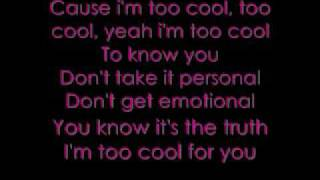 Meaghan Martin;Too Cool//Lyrics