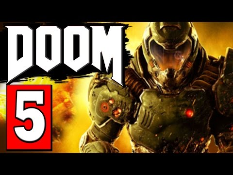 DOOM 4 Full Game Walkthrough Part 5 MISSION - HELL ON EARTH Let's Play Playthrough Doom 2016