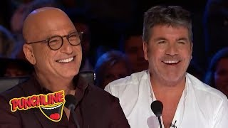STAND UP COMEDIANS make Simon Cowell & Howie Mandel On America's Got Talent Laugh!