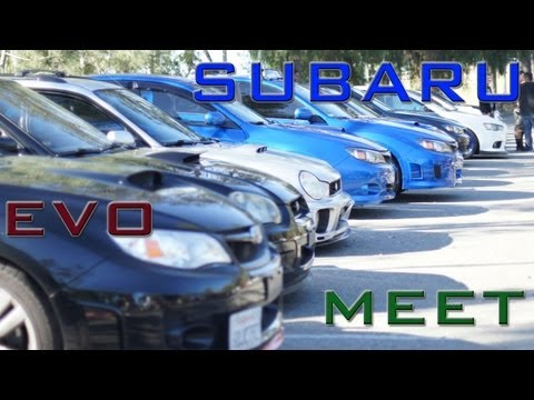 Car Meet Subarus and Evos Hillcrest park SoCal