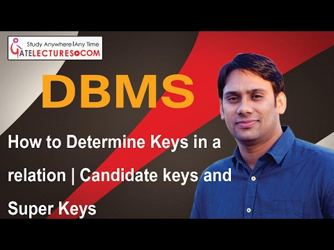 20 How to Determine Keys in a relation | Candidate keys and Super Keys