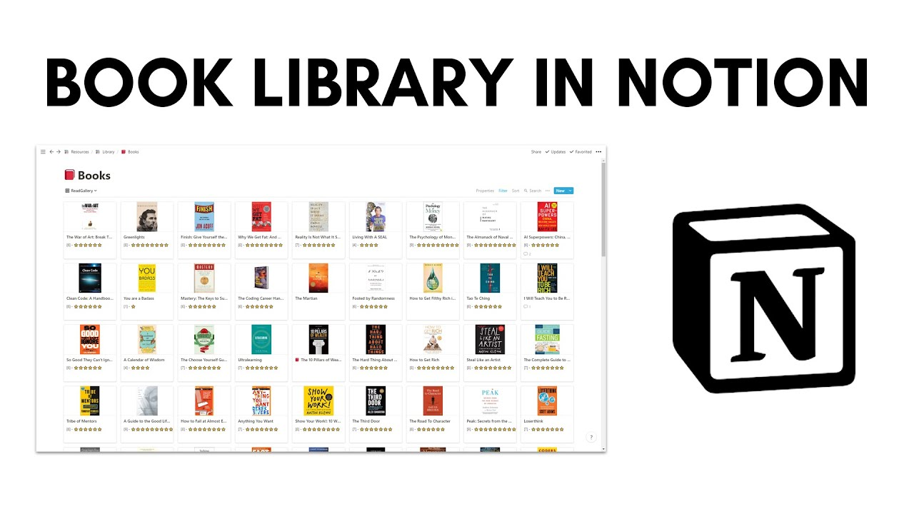 How to Track Books in Notion with a Library