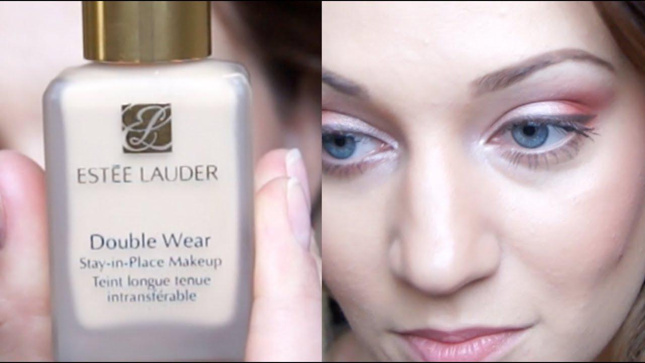 review estee lauder double wear foundation youtube