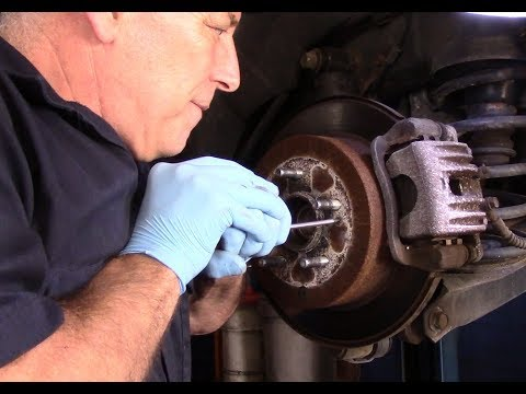 How to replace rear brakes and rotors on a Hyundai Santa Fe