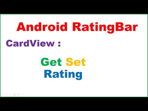 Android RatingBar Ep.01 : CardView - Set,Get Rating,Show in Snackbar