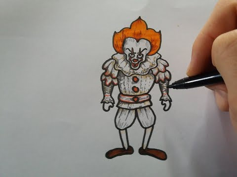 Drawing Pennywise (It) - cartoon