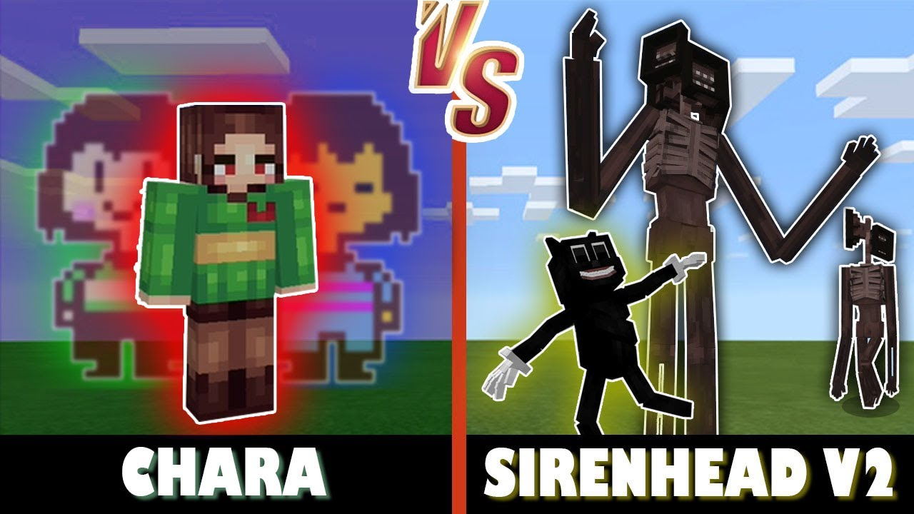 Chara vs. Sirenhead V2 | Minecraft (AMAZING BATTLE!)