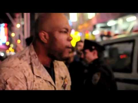 "1 US Marine defends the people of NY against 30 NYPD Cops at ""Occupy Wall Street"""