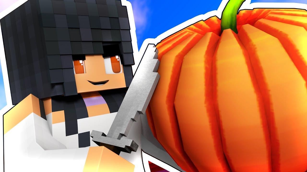 halloween pumpkins with youtubers minecraft challenge youtube