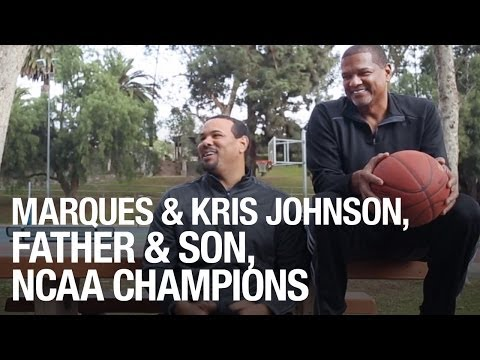 Marques And Kris Johnson, Father And Son, NCAA Champions